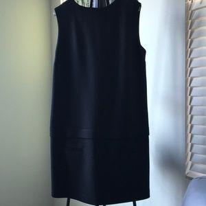 Zara basics black sheath dress